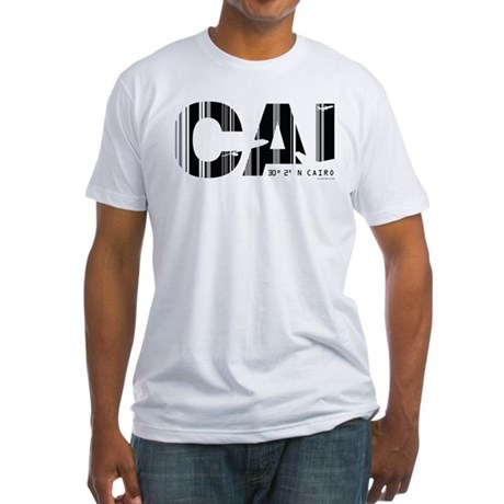 Cairo Egypt Air Wear CAI Fitted T-Shirt