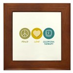 Peace Love Occupational Therapy Framed Tile
