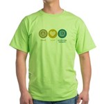 Peace Love Occupational Therapy Green T-Shirt