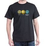 Peace Love Occupational Therapy Dark T-Shirt