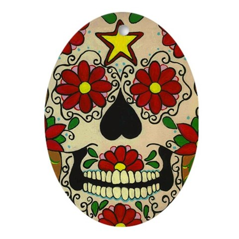 day of dead skull. Day of the Dead Skull Oval