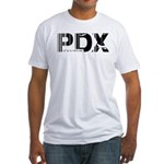 Portland Oregon PDX Air Wear Fitted T-Shirt