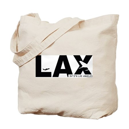 Los Angeles Airport LAX Black Des. Tote Bag
