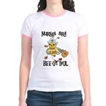 Nurses Are Bee-utiful Jr. Ringer T-Shirt