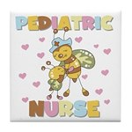 Bee Pediatric Nurse Tile Coaster