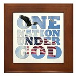 """One Nation Under God"" Framed Tile"