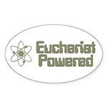 Eucharist Powered Oval Sticker (10 pk)
