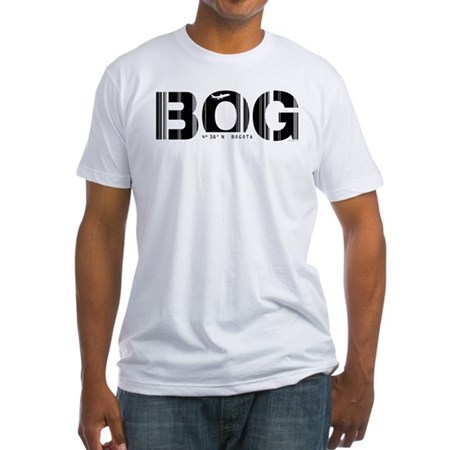 Bogota Airport Code Colombia BOG Fitted T-Shirt