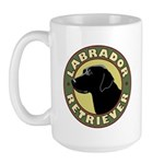 Black Lab Crest - Large Mug