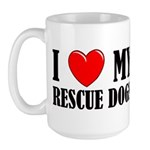 Love My Rescue Dogs Large Mug