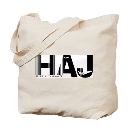 Hannover Airport Code Germany HAJ Tote Bag