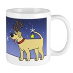 Reindeer Yellow Lab Mug (Cartoon)