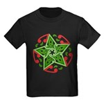 Celtic Christmas Star Kids Dark T-Shirt