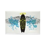 """Surf Angel: Tribe"" Rectangle Magnet"