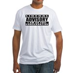 Liberal Advisory (I'm Conservative) Fitted T-Shirt