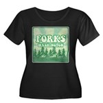 Twilight Forks Women's Plus Size Scoop Neck Dark T