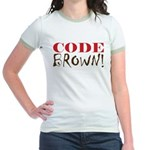 Code Brown! Jr. Ringer T-Shirt