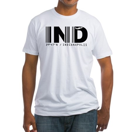 Indianapolis Airport IND Indiana Fitted T-Shirt