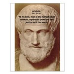 Greek Philosophers: Aristotle Small Poster