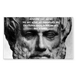 Greek Philosophy: Aristotle Rectangle Sticker