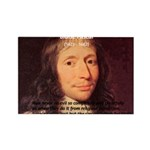 Mathematician: Blaise Pascal Rectangle Magnet (100