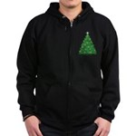Celtic Christmas Tree Zip Hoodie (dark)