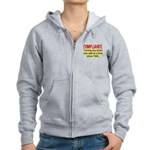Compliance Turn Down Women's Zip Hoodie