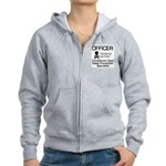 Compliance Officer Women's Zip Hoodie
