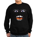 Shocked Cartoon Face Sweatshirt (dark)