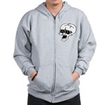 Screaming Skull Zip Hoodie