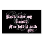 Edward Heart Twilight Rectangle Sticker