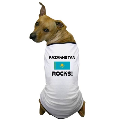 Kazakhstan Rocks! Dog T-Shirt