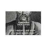 Eastern Wisdom: Confucius Rectangle Magnet