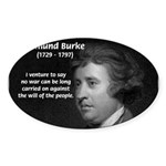 Politics: Edmund Burke Oval Sticker