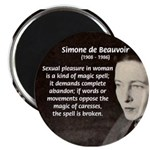"Simone De Beauvoir 2.25"" Magnet (10 pack)"