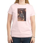 Philosopher: Rene Descartes Women's Pink T-Shirt