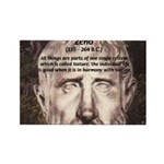 Stoic Philosophy: Zeno Rectangle Magnet (10 pack)