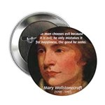 "Feminist Mary Wollstonecraft 2.25"" Button (100 pac"
