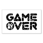 Game Over Rectangle Sticker