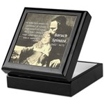 Rationalist Baruch Spinoza Keepsake Box