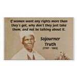 Feminist Sojourner Truth Rectangle Sticker