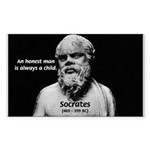 Wisdom of Socrates Rectangle Sticker