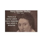 Romantic Poet Percy Shelley Rectangle Magnet (10 p