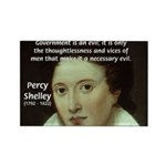 Romantic Writer: Percy Shelley Rectangle Magnet (1