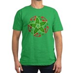 Celtic Christmas Star Men's Fitted T-Shirt (dark)
