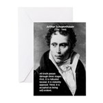 Arthur Schopenhauer Truth Greeting Cards (Package