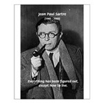 Existentialist Jean-Paul Sartre Small Poster