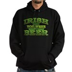 Irish You Were Beer Shamrock Hoodie (dark)