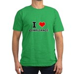 I (heart) Compliance Men's Fitted T-Shirt (dark)