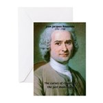 French Philosopher Rousseau Greeting Cards (Packag